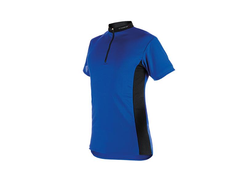 Zipp-Neck Shirt kurzarm